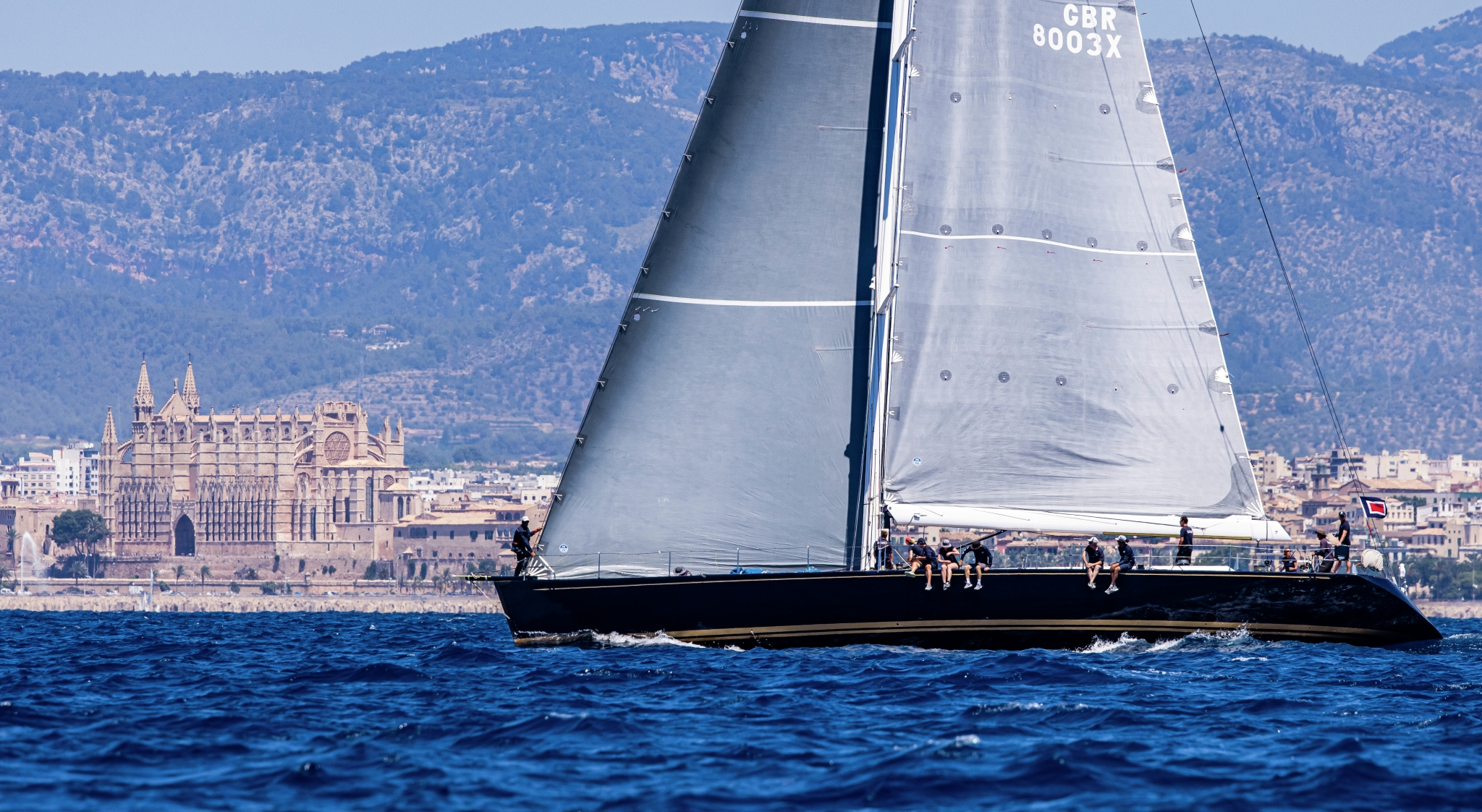 Superyacht Cup Palma 2021. What a magnificent backdrop Spain provides for the regatta.