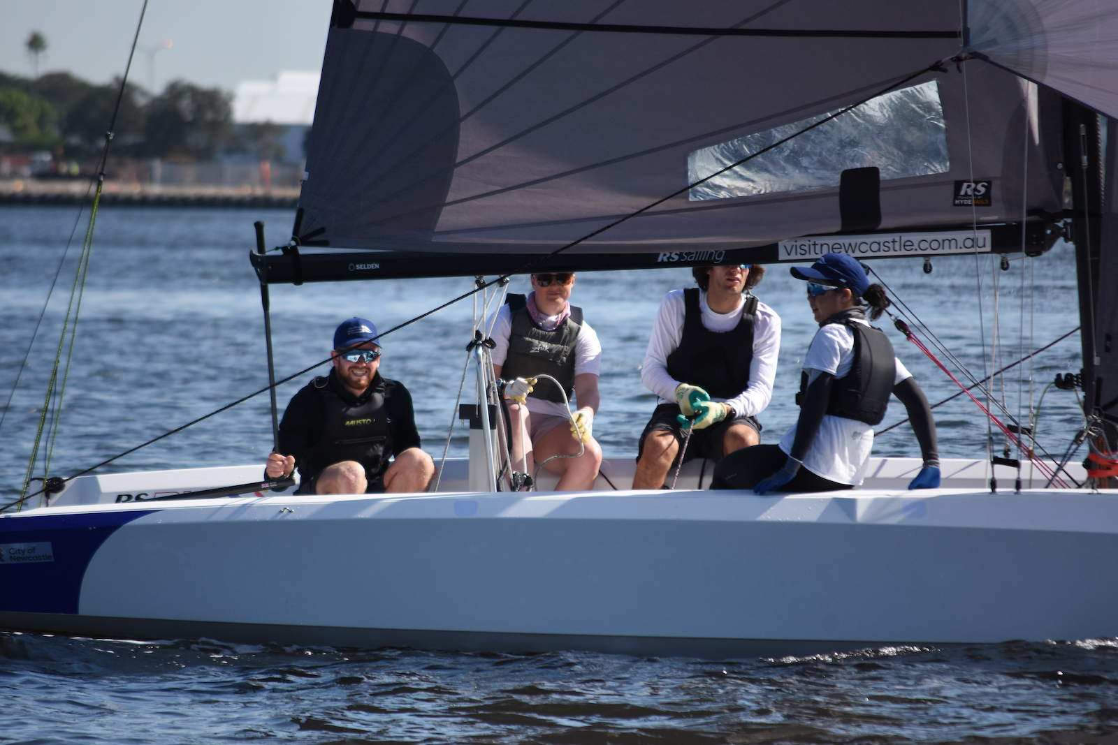 Crew relaxing between races