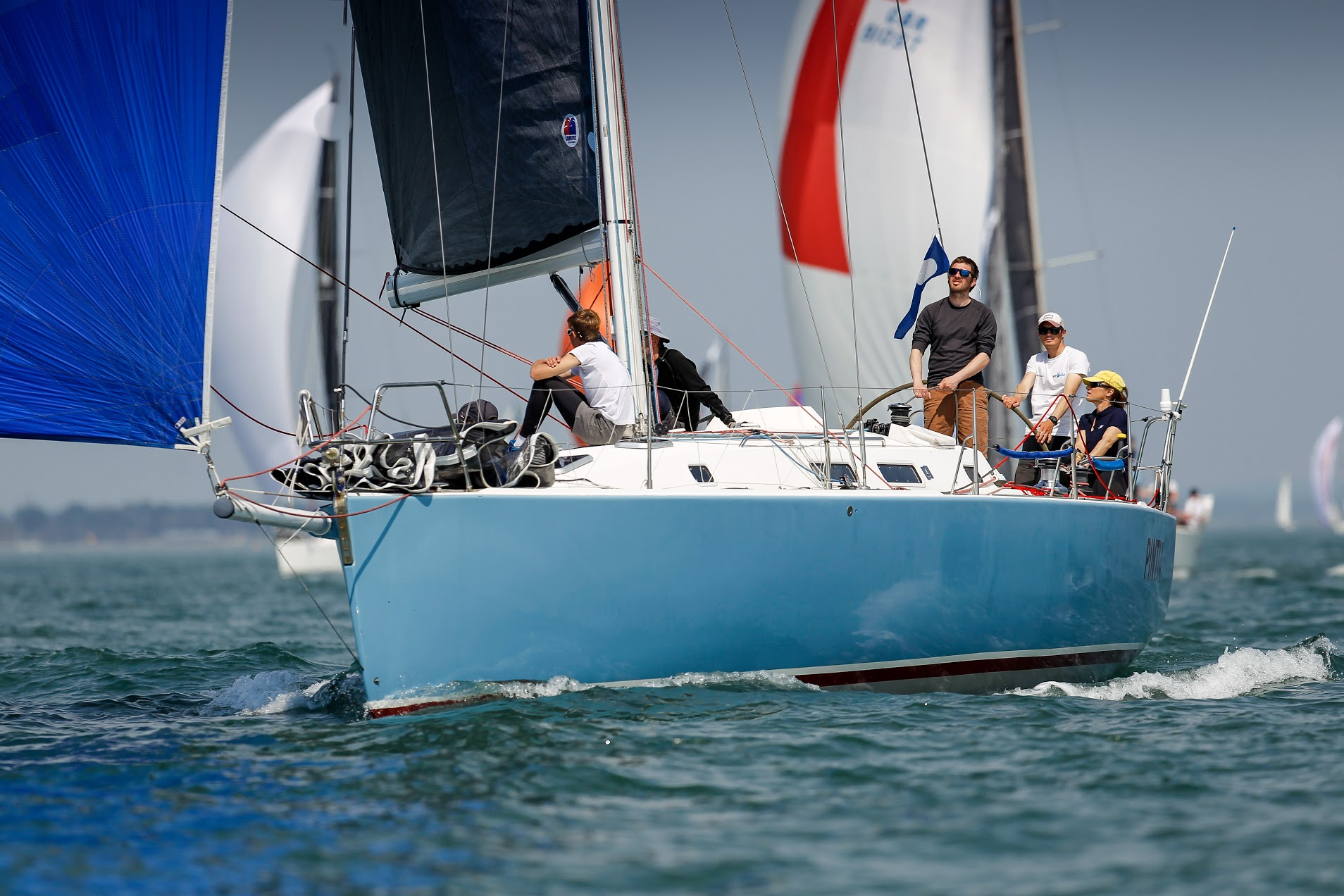 Corinne Migraine co-owns the successful J/133 Pintia with her father Gilles Fournier