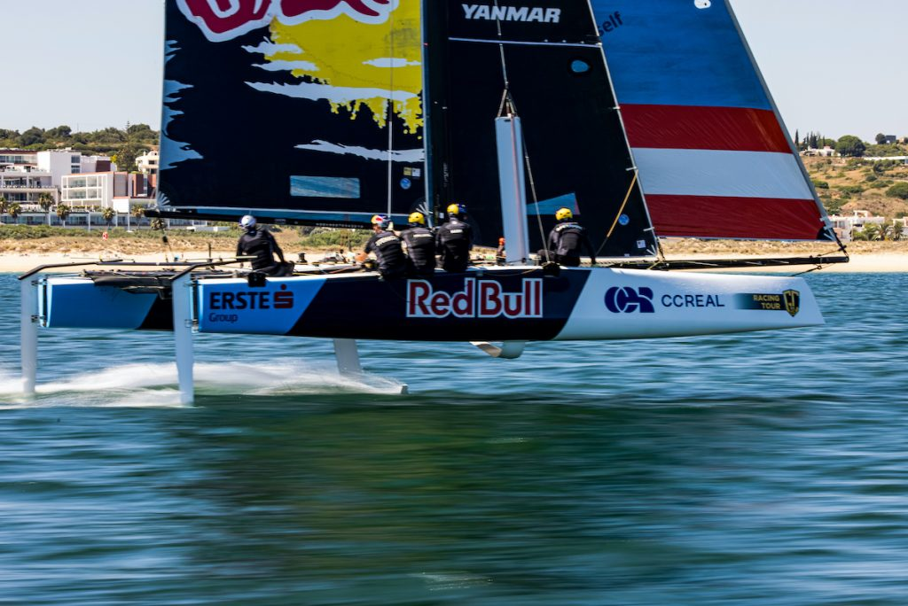 Team Red Bull sailing fast