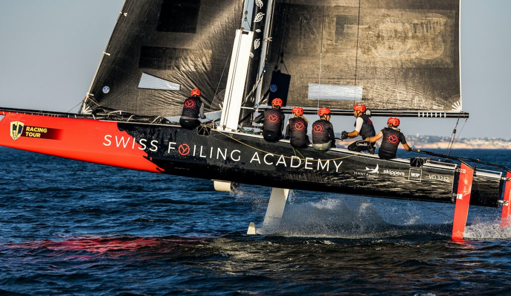 Swiss Foiling Academy sailing along