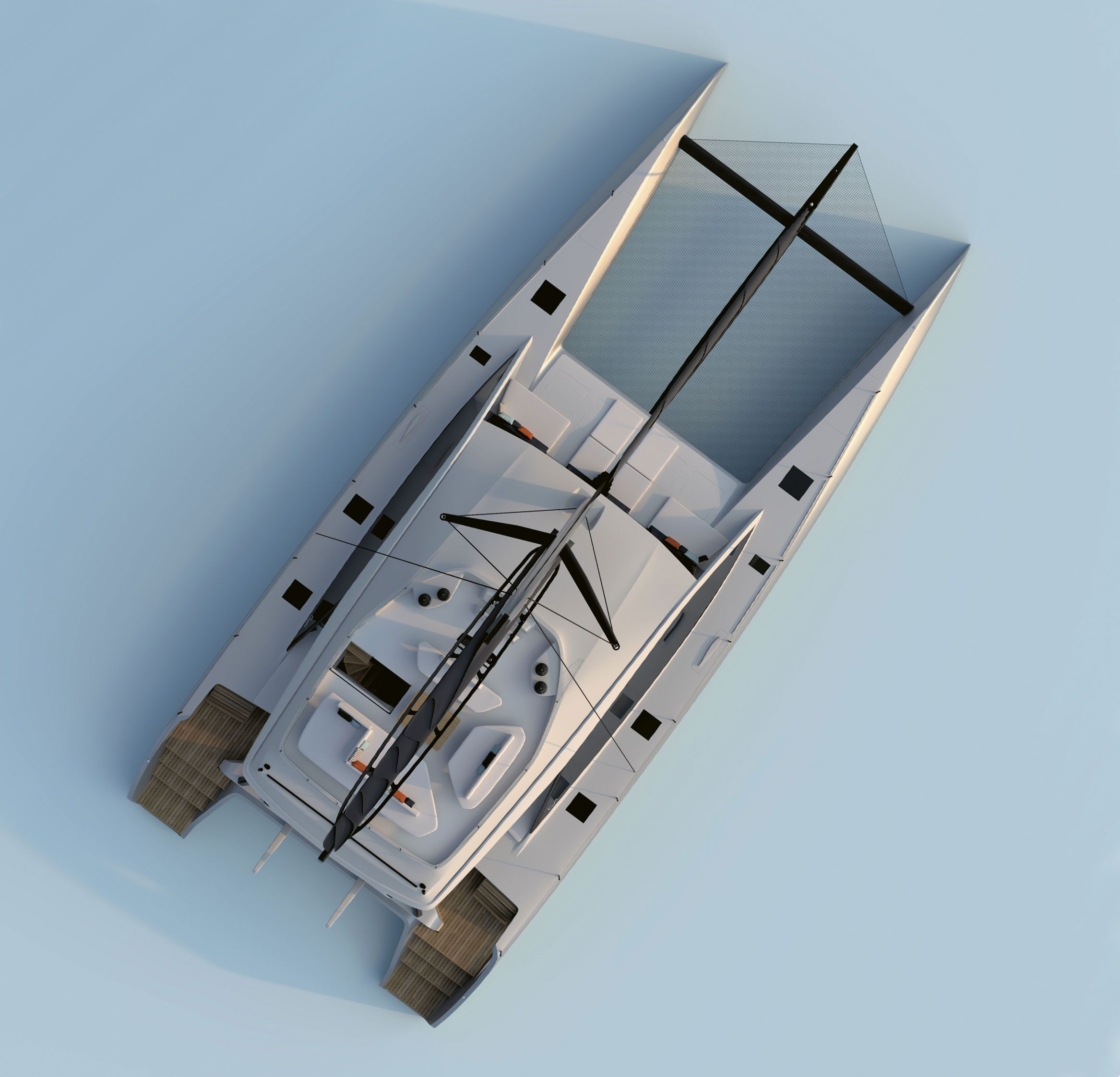 Bird's-eye view of thr new Gunboat design