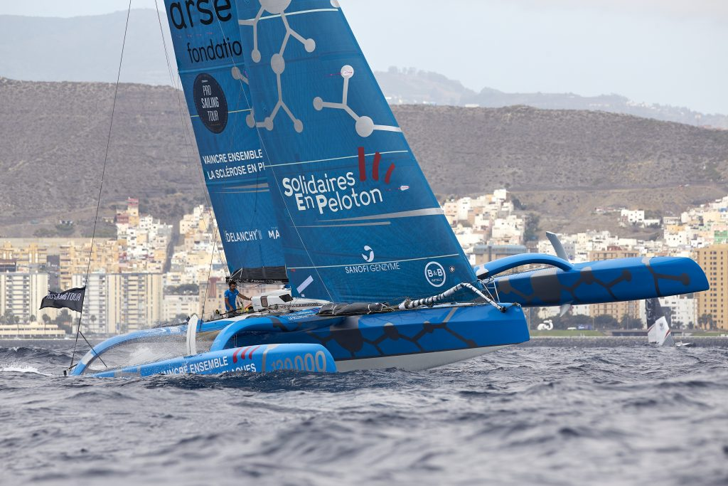 One of competitors foiling