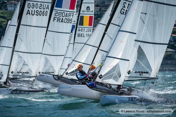 Nacra 15s at the Europeans 2018