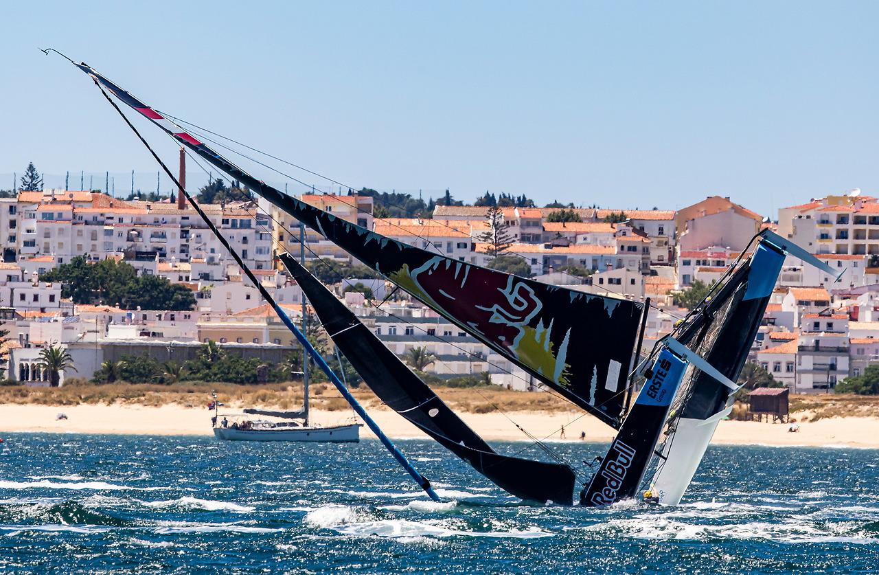 Red Bull capsizing