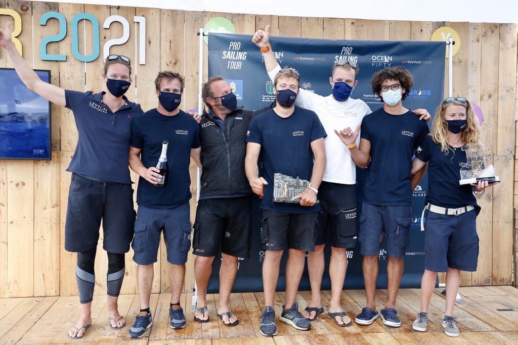Team Leyton celebrate their win.