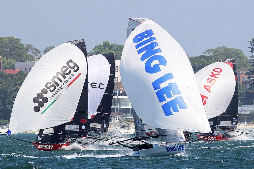 18ft skiffs roaring downwind