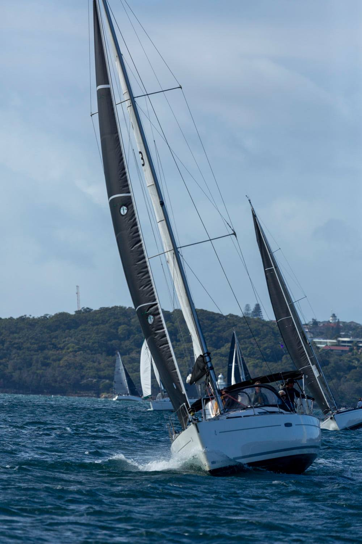 Cruiser race sailing upwind