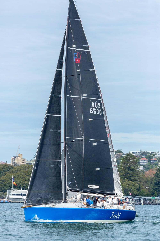 Indi sailing upwind