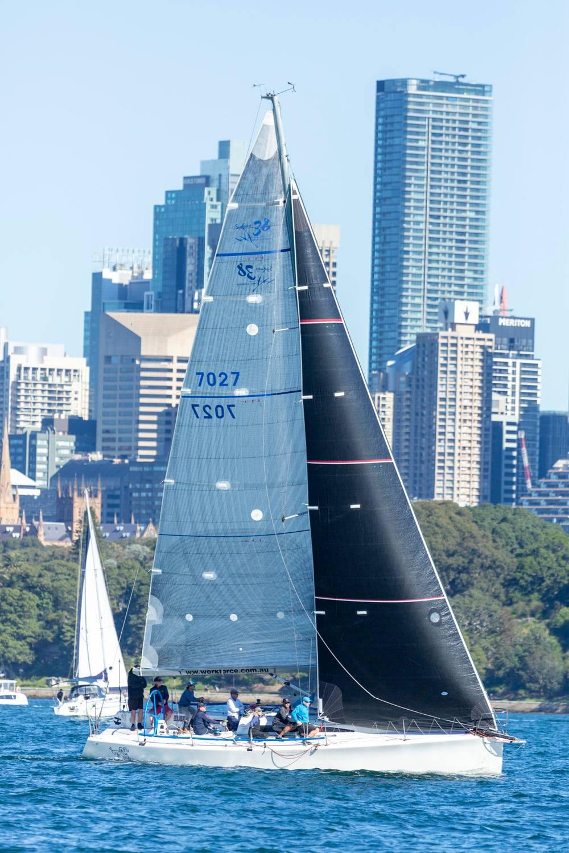 Sailing on a reach