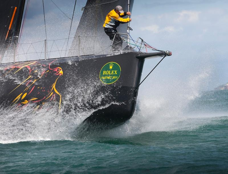 Ian Walker-skippered VO70 Abu Dhabi Ocean Racing which romped round the course in record time in 2011
