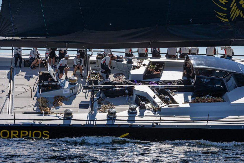 All the sail controls on board Skorpios are push-button © Eva-Stina Kjellman