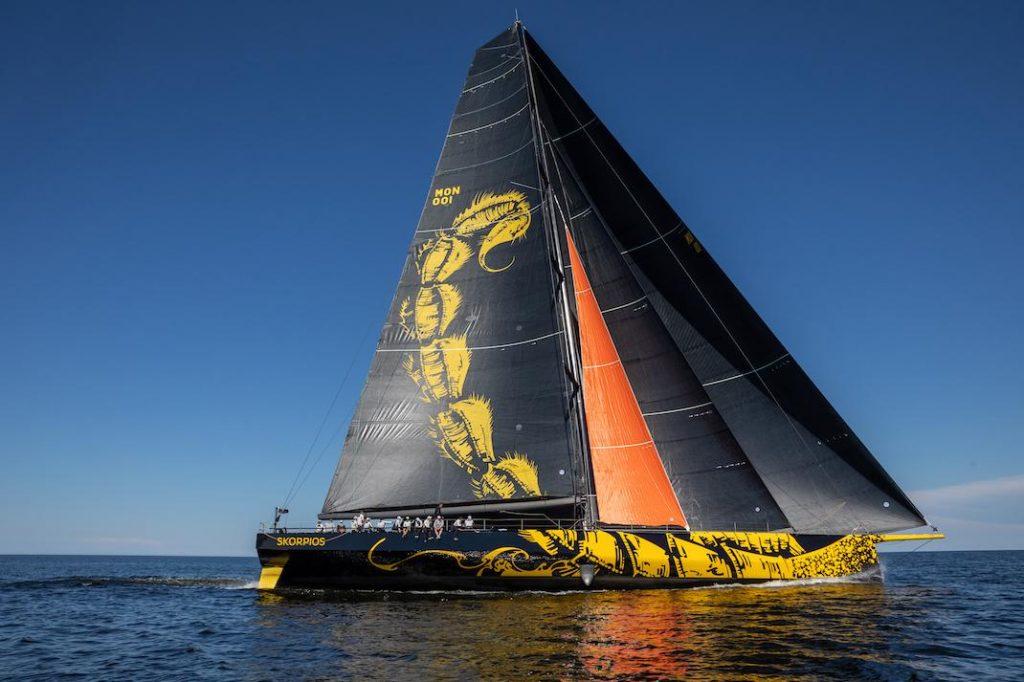 Skorpios sailing