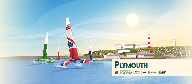 Sail GP Plymouth drawing poster