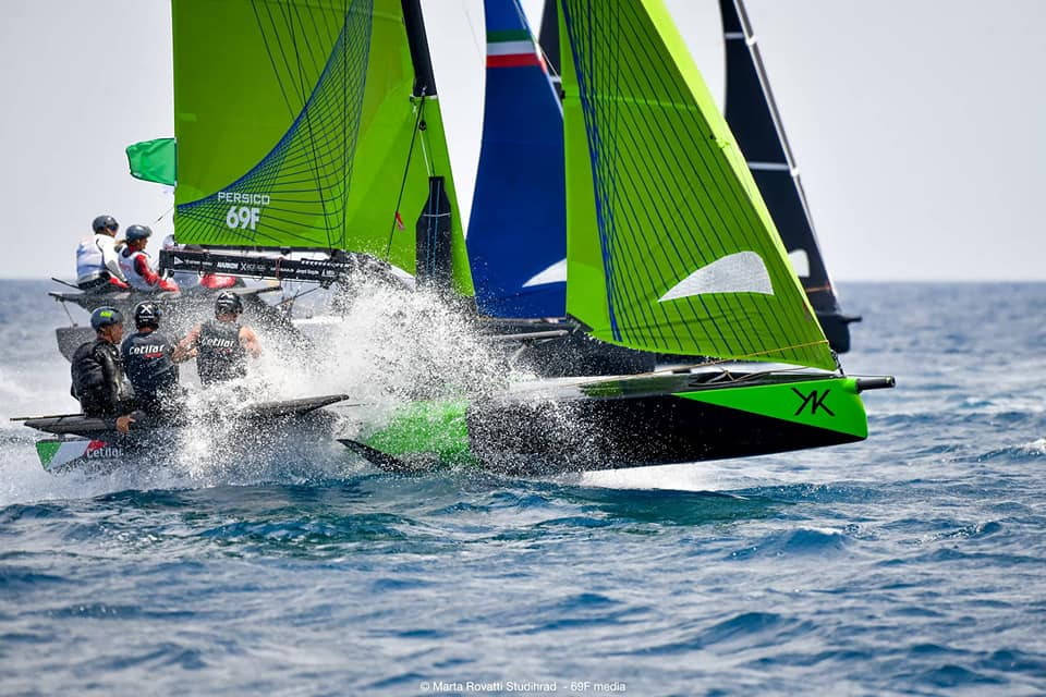 Spray while sailing upwind