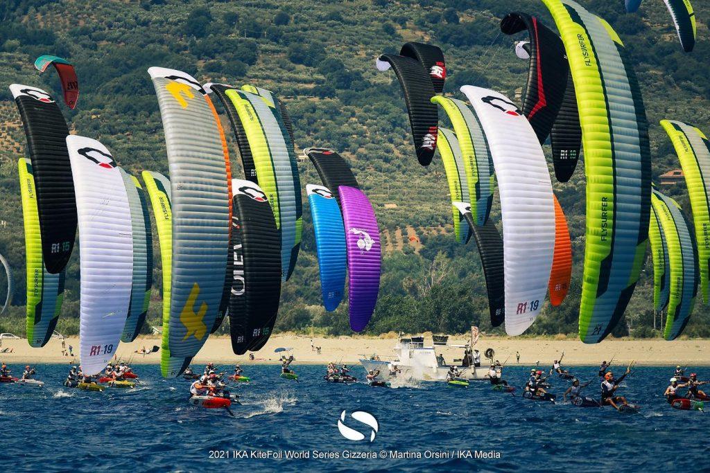 KiteFoil multi-coloured fleet