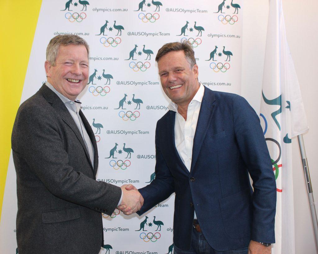 Zhik CEO Piet Poelmann and AOC CEO Matt Carroll