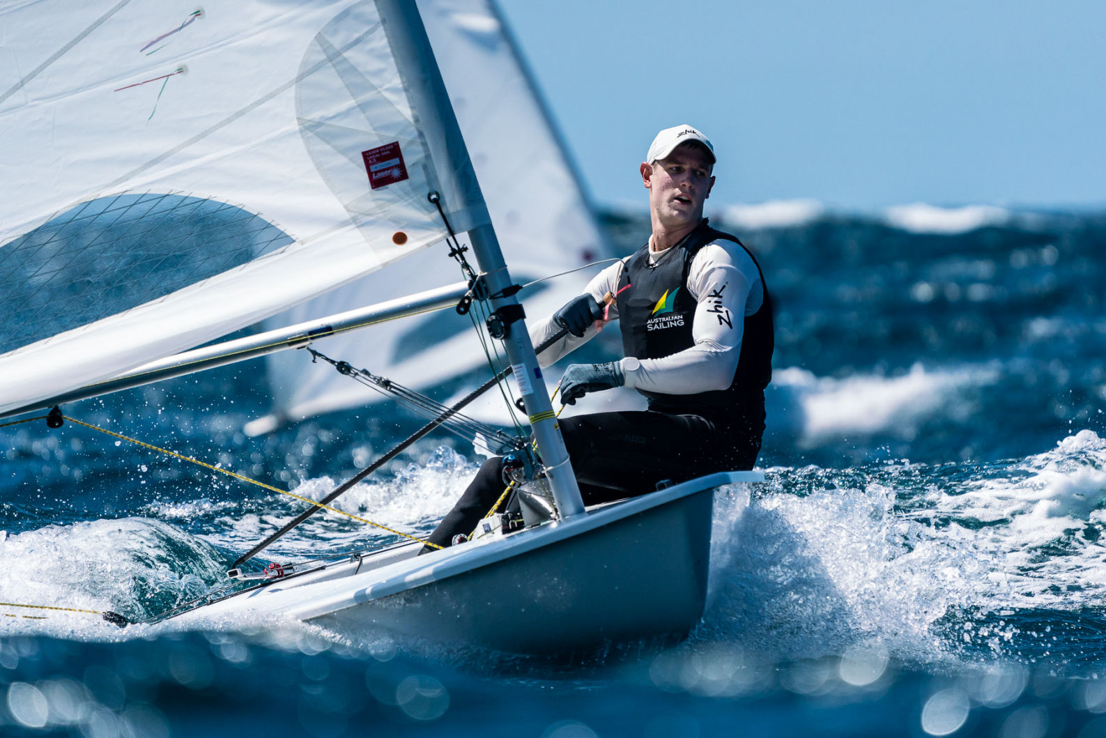 Matt Wearn sailing his laser