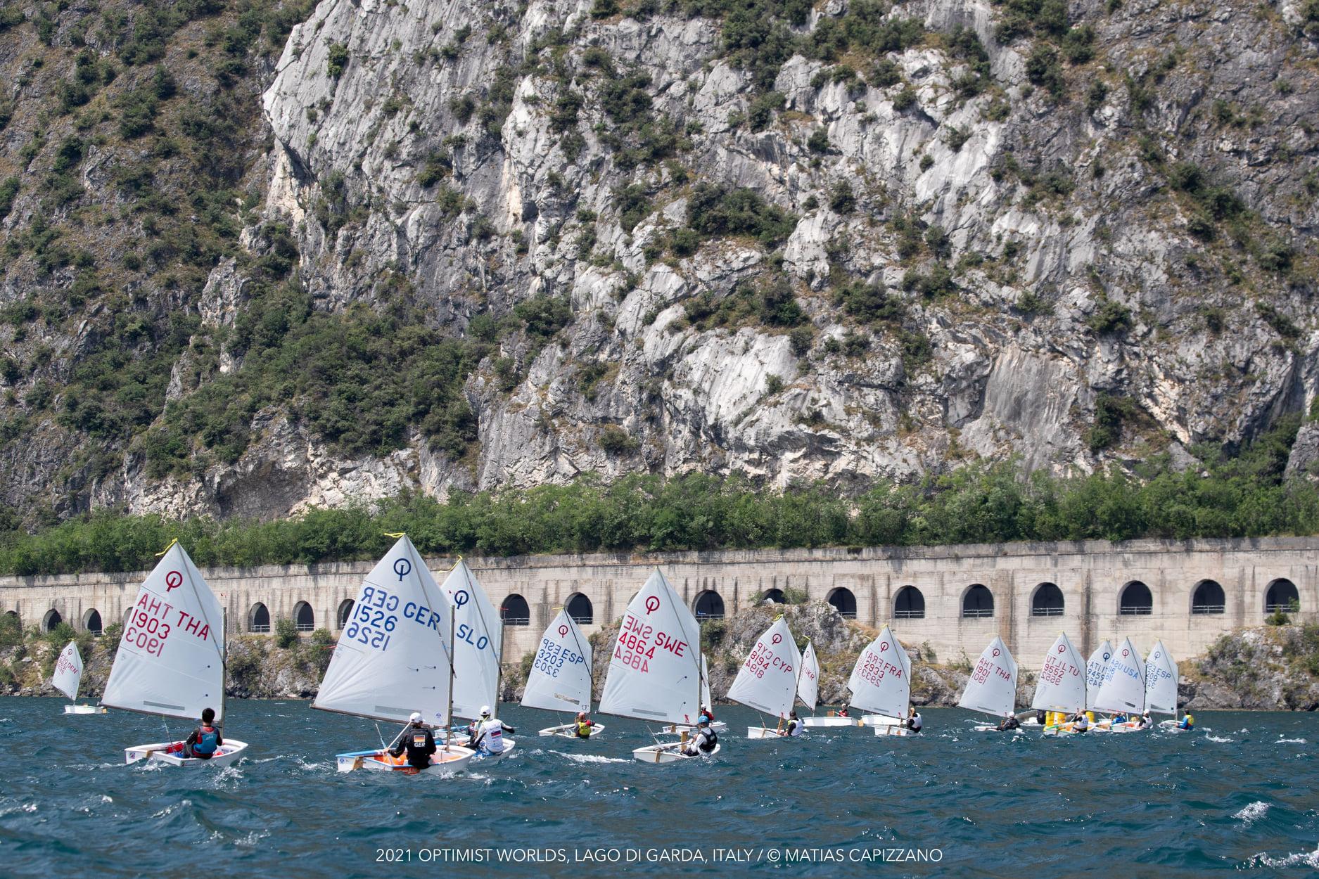 Picturesque background for a regatta