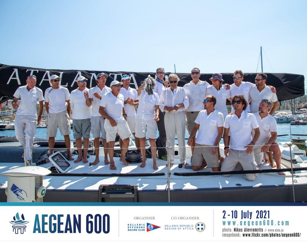 Atalanta II crew celebrate win