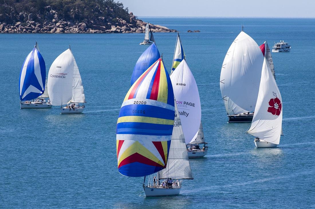 Magnetic Island Race Week 2019 kite run birds eye view