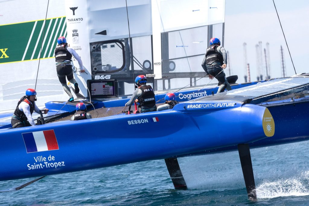 Team France racing while foiling