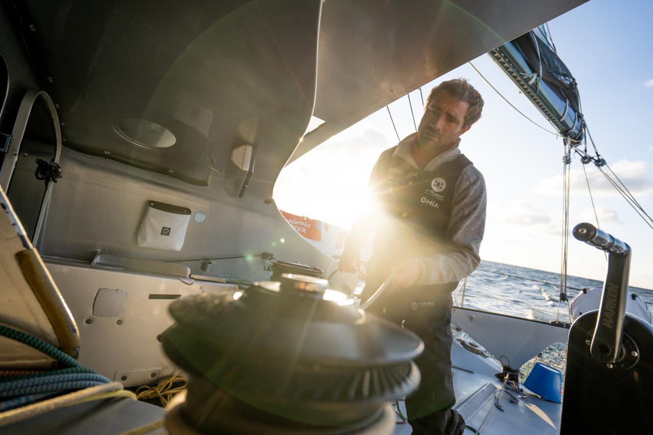 Benjamin Dutreux sailing
