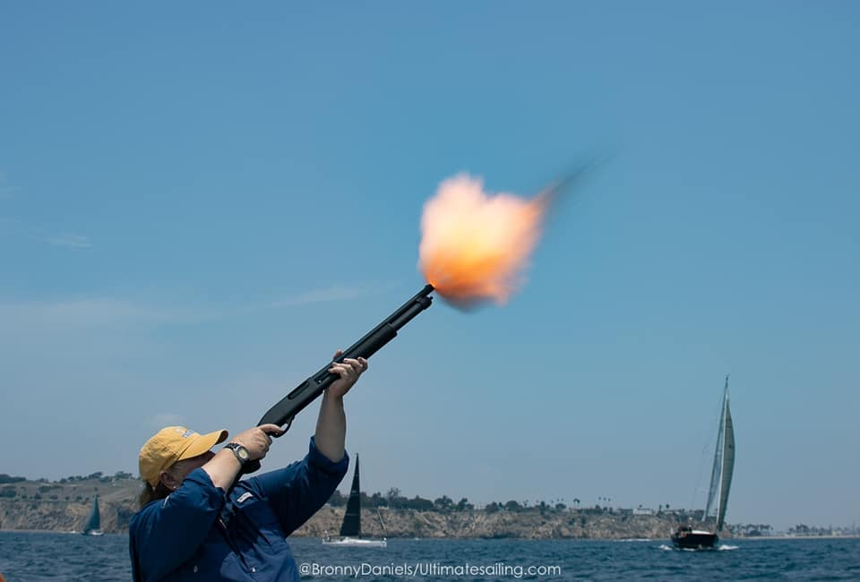 Star gun being fired for Transpac race
