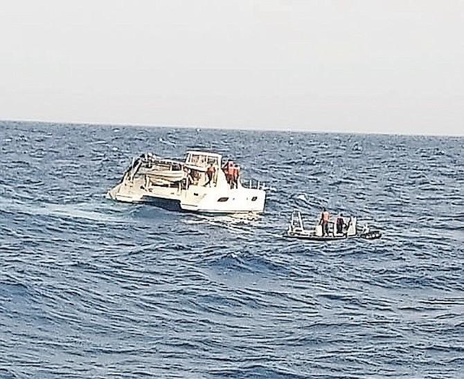 De-masted catamaran