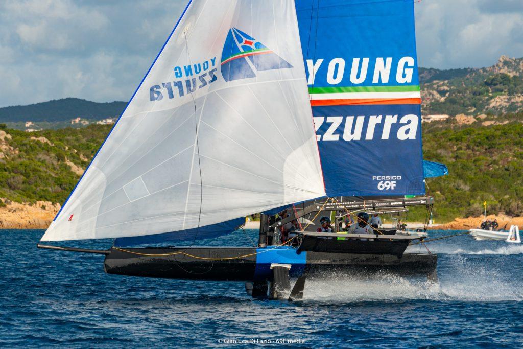 Young Azzurra on kite reach
