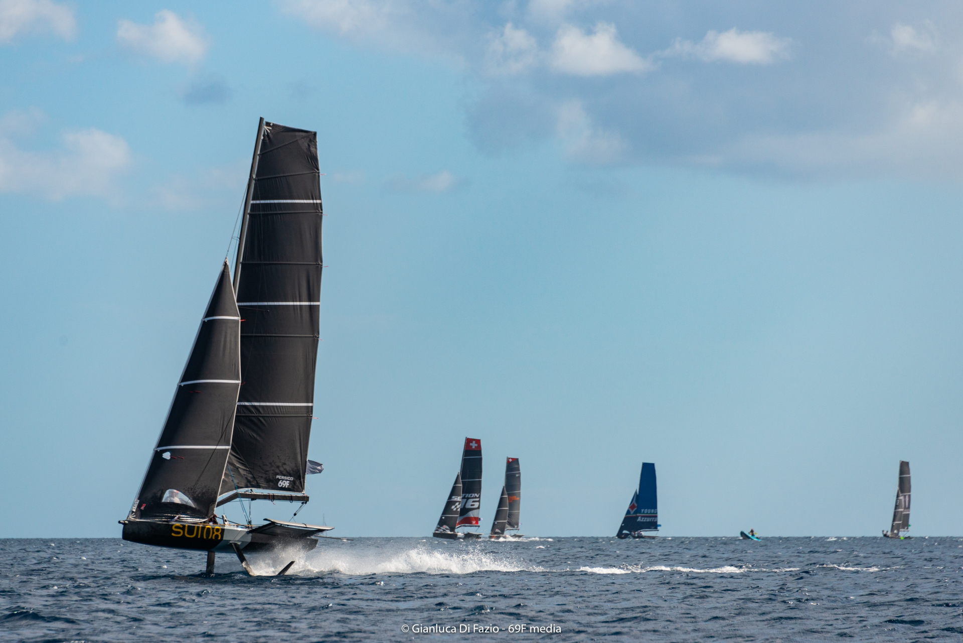 Boat making their way upwind