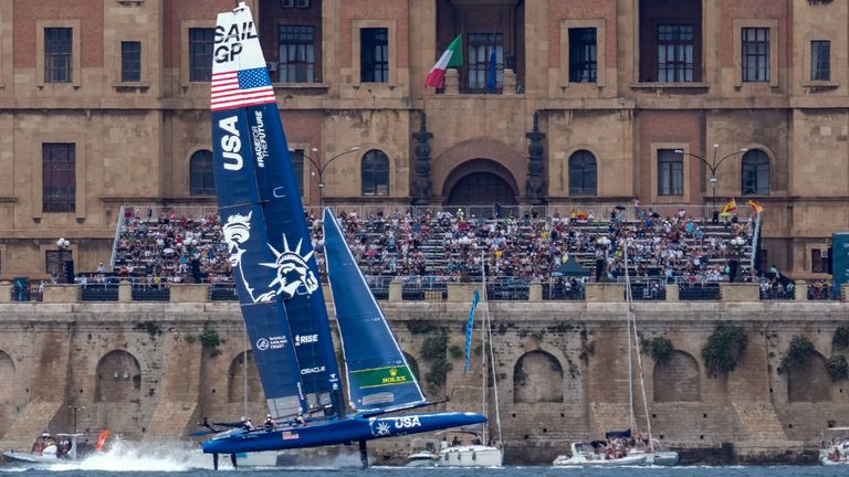 Team USA snapped their rudder at SailGP in Italy