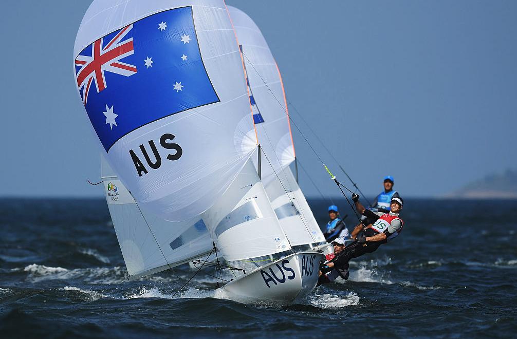 Belcher and Ryan on kite run at Rio