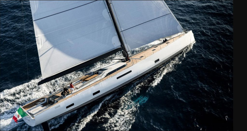 CEFEA is a 33.77 m Sail Yacht, built in Italy by Solaris Yachts and designed by Monaco Yacht Tempations