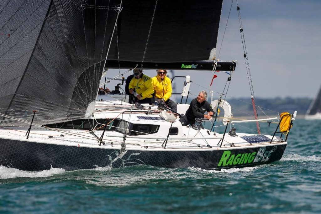 Racing fully crewed in IRC Three back to their home port of Cherbourg will be Louis-Marie Dussere's JPK 1080 Raging-Bee²