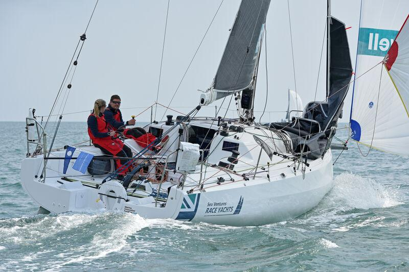 Team Bomby/Robertson: Henry Bomby and Shirley Robertson on Sun Fast 3300 Swell in the Rolex Fastnet Race