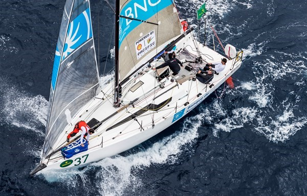 """The JPK 10.80 """"BNC"""" won its division in the 2018 Sydney to Hobart."""