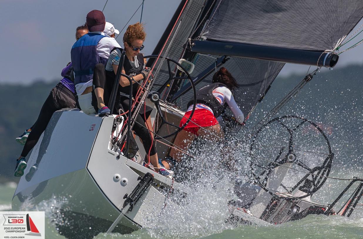 Yacht making its way upwind