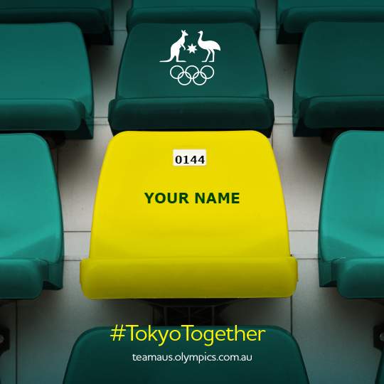 sign up as a spectator for Tokyo 202 and send a message of support