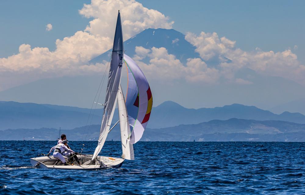 Spanish team sailing