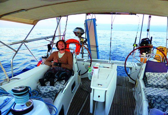 Craig on his Beneteau Oceanis 46