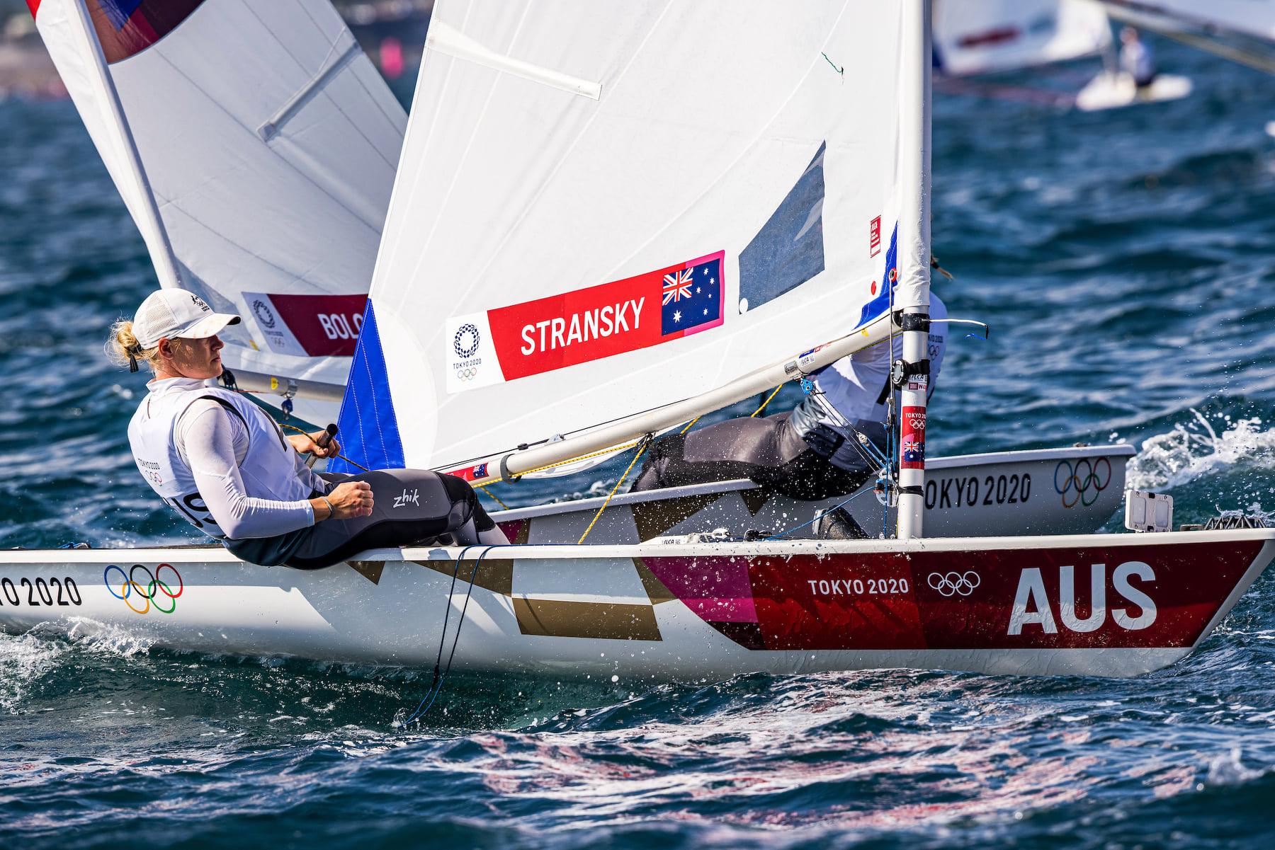 Mara Stransky sailing