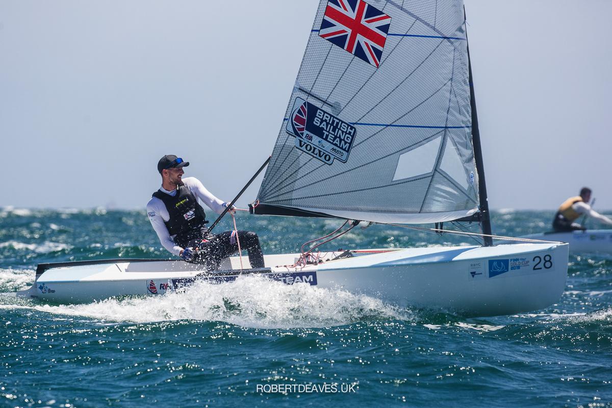 Giles Scott (GBR) sailing