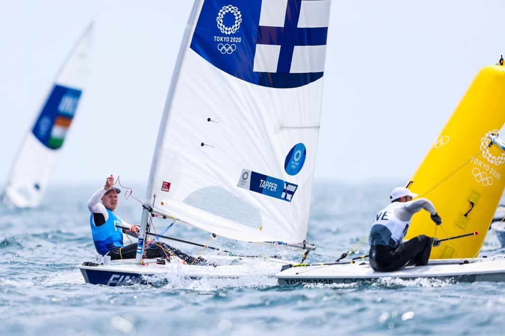 Finland's Kaarle Tapper sailing