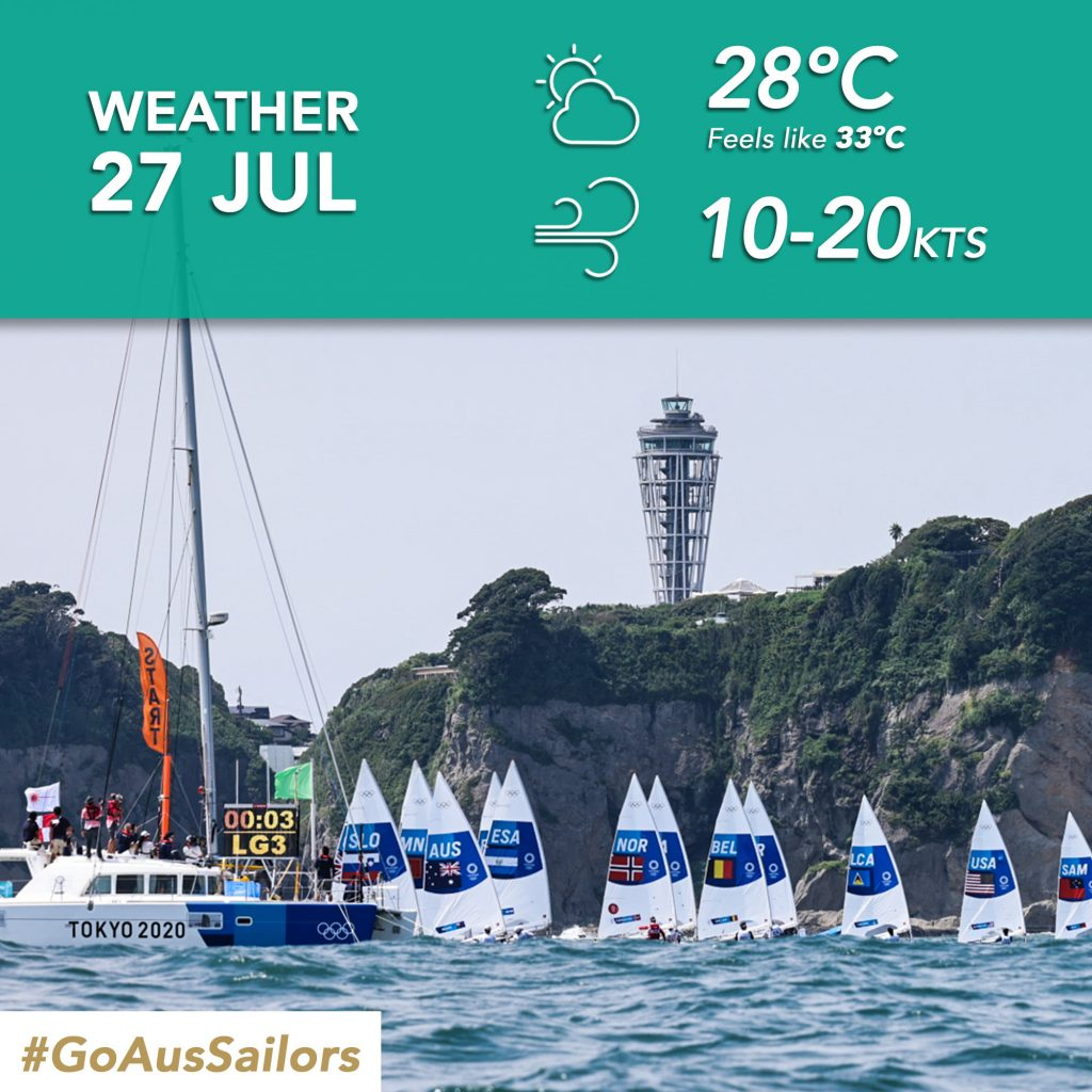 Sailing forecast day 3, 10-20 knots