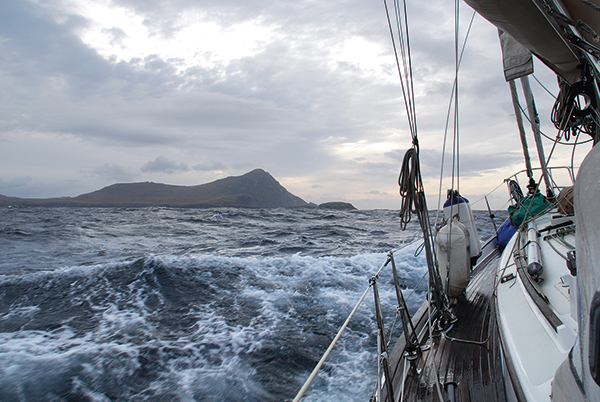 Paul Heiney rounding Cape Horn in his boat