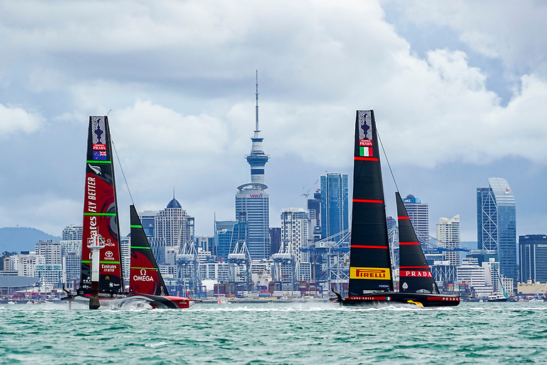 America's Cup boats racing