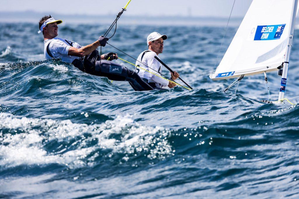 Mat Belcher and Will Ryan sailing upwind