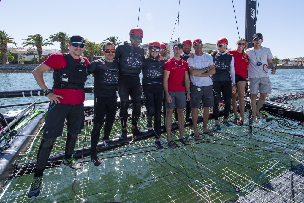 The Swiss Foiling Academy is led by Julien Monnier and Loick Forestier