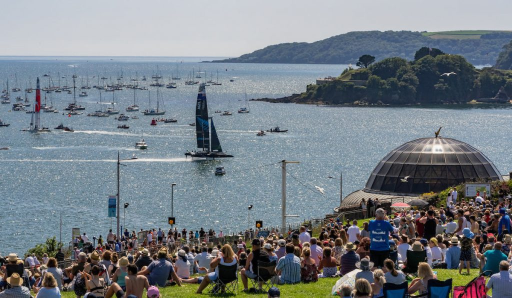 Spectators were in their thousands at SailGP Plymouth.